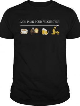 Mon plan pour aujourd'hui I like coffee welder beer and sex tshirt