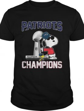 Snoopy and Woodstock Patriots Super champions tshirt