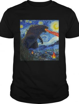Starry Night Godzilla tshirt