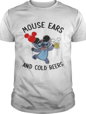Stitch mouse ears and cold beers tshirt