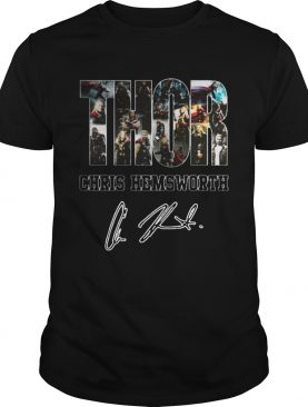 Thor Chris Hemsworth signature tshirt