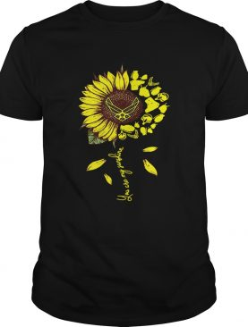 US Air Force sunflower you are my sunshine tshirt