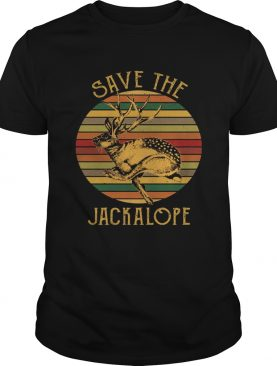 Vintage Save The Jackalope Funny Rabbit With Horn Tshirt