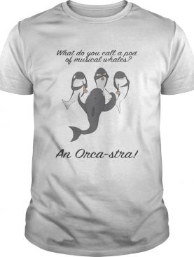 What do you call a pod of musical whales and Orca-Stra tshirt