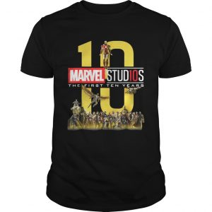 10 Marvel studios the first ten Years Unisex shirt