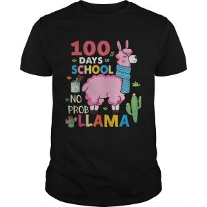 100 Days of school no probllama Unisex shirt