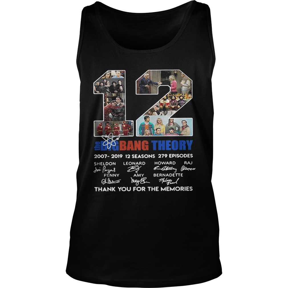 d911245c4cf 12 years the Big Bang Theory thank you for the memories Tank Top shirt