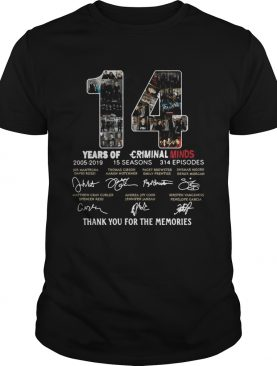 14 Years of Criminal Minds 2005-2019 thank you for the memories signature tshirt