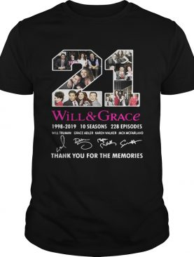 21 Will and Grace 1998 – 2019 thank you for the memories tshirt
