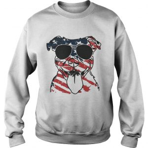 4th Of July Pitbull American Flag Sweat Shirt