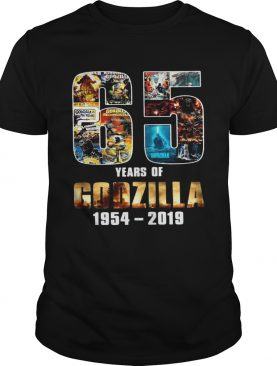 65th Years of Godzilla 1954-2019 For Memories tshirt