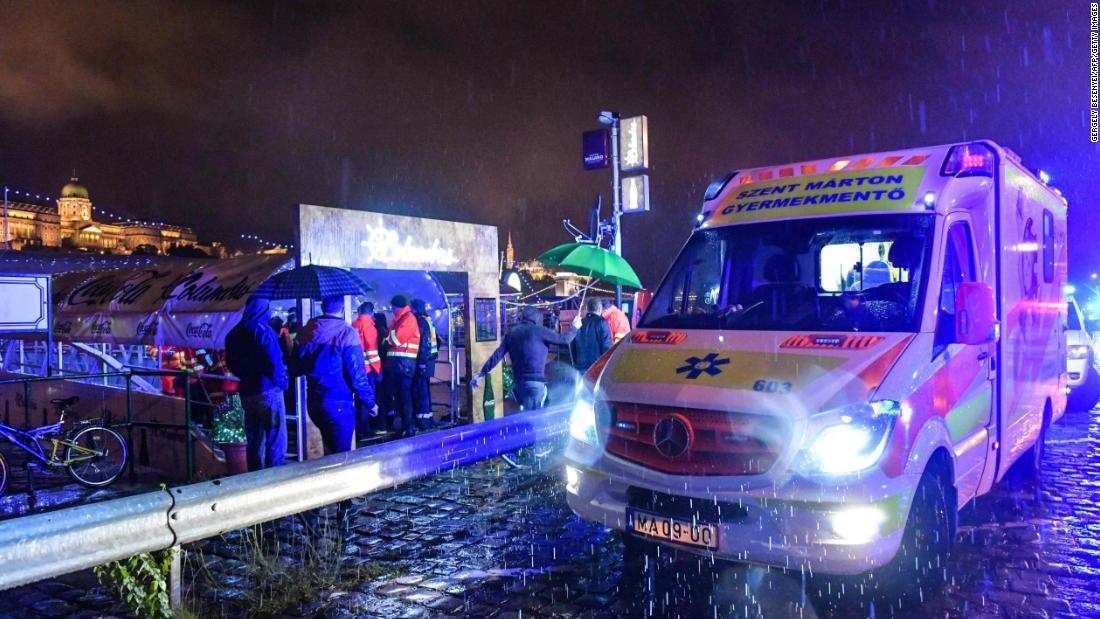 At least 7 dead 19 missing after sightseeing boat sinks on Danube River in Hungary