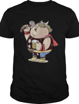 Avengers Endgame Thor fat and beer tshirt