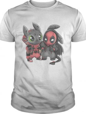 Baby Toothless and Deadpool tshirt