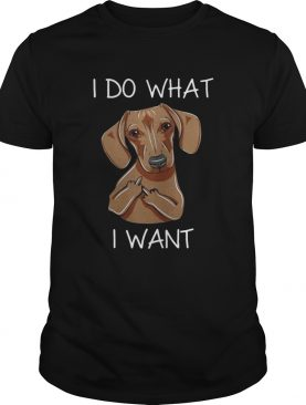Dachshund I do what I want tshirt