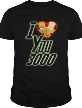 Dad and Daughter Iron Man I Love You 3000 three thousand tshirt