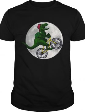 Dinosaurs Ride Bicycles On The Moon TShirt