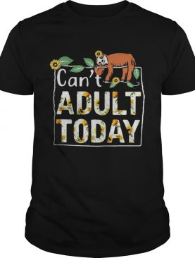 Gibbon Can't adult today tshirt