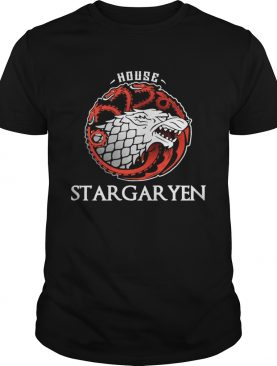House stargaryen wolf and dragon tshirt
