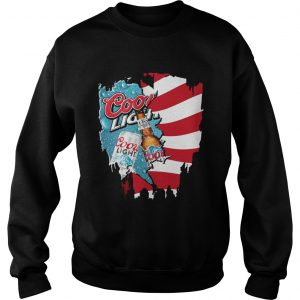 Independence Day 4th Of July Coors Light America Flag Sweat Shirt