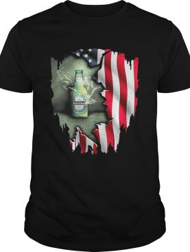 Independence day 4th of July Heineken America Flag tshirt