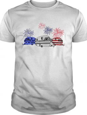 Independence day 4th of July camping beauty America flag tshirt