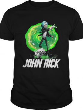 John Rick John Wick Rick And Morty tshirt