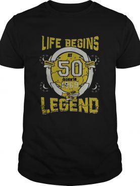 Life begins at 50 born in 1969 the year of the legend Unisex adult T-shirt