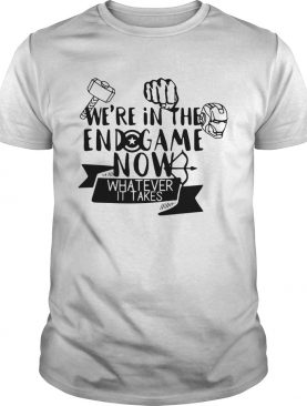 Marvel Avengers we're in the Endgame now whatever it takes tshirt