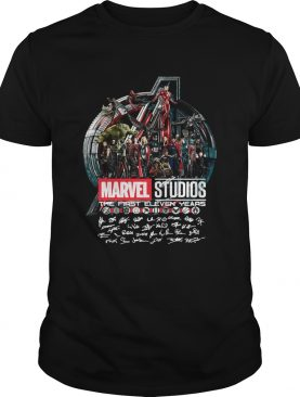 Marvel studios the first eleven years all characters' signature Avengers tshirt