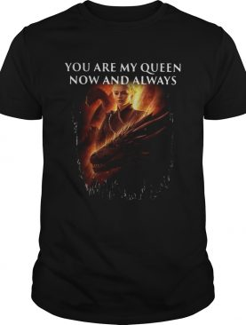 Mother of dragon you are my queen now and always tshirt