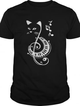 Musical Notes Cat tshirt