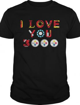 Pittsburgh Steelers Iron Man I love you 3000 thousand times tshirt