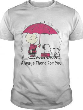 Snoopy and Charlie Brown always there for you tshirt