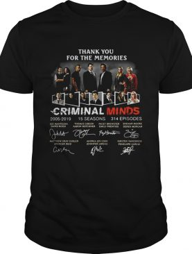 Thank you for the memories Criminal Minds 2005-2019 signature tshirt