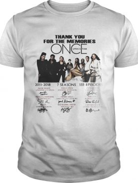 Thank you for the memories once upon a time tshirt