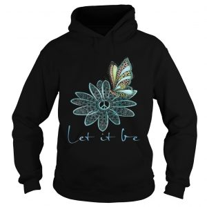 The Beatles Flower Butterfly Let It Be Hoodie shirt