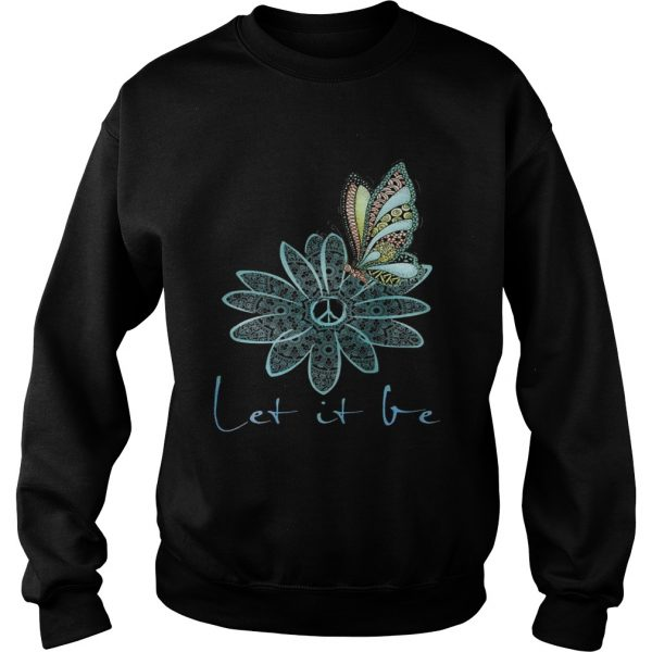 The Beatles Flower Butterfly Let It Be Sweat shirt
