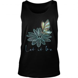 The Beatles Flower Butterfly Let It Be Tank Top shirt