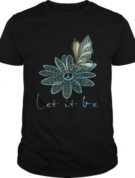 The Beatles Flower Butterfly Let It Be tshirt