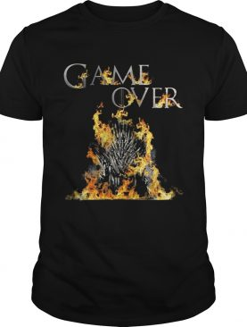 The Iron Throne burnt game over Game of Thrones tshirt