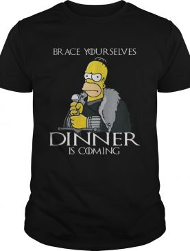 The Simpsons brace yourselves dinner is coming tshirt
