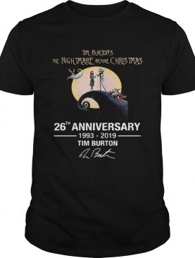 Tim Burton's The Nightmare Before Christmas 26th anniversary 1993 2019 signature tshirt