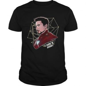 Top Iron Man Tony Stark I love U 3000 daughter Unisex shirt