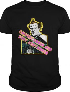 Vyvyan Young Ones 80s Tribute Punk I'm very sober and very very bored tshirt