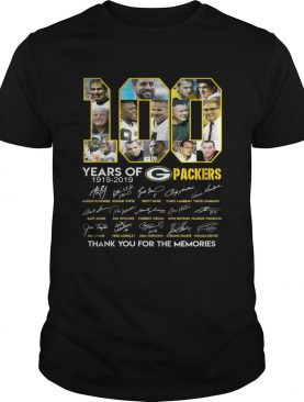 100 years of Green Bay Packers thank you for the memories signature t-shirt