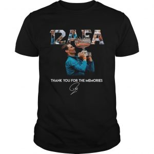 12 AFA Roland Garros thank you for the memories Unisex shirt
