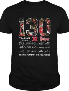 130 Years of Huskers 1890-2020 thank you for the memories signature t-shirt