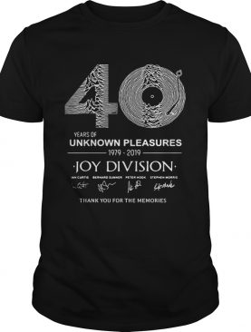 40 year of unknown pleasures 1979-2019 Joy Division thank you t-shirt