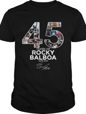 45 years of Rocky Balboa 1976 2021 signature t-shirt